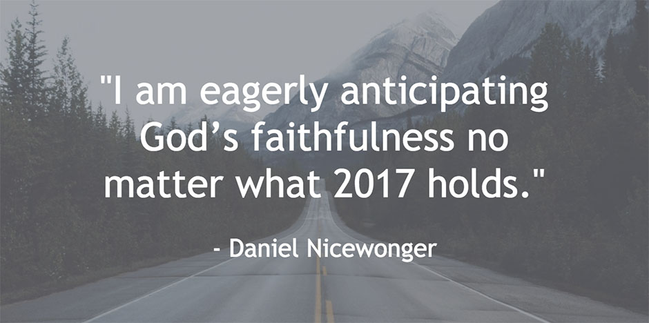New Year Quote 2017 - Daniel Nicewonger